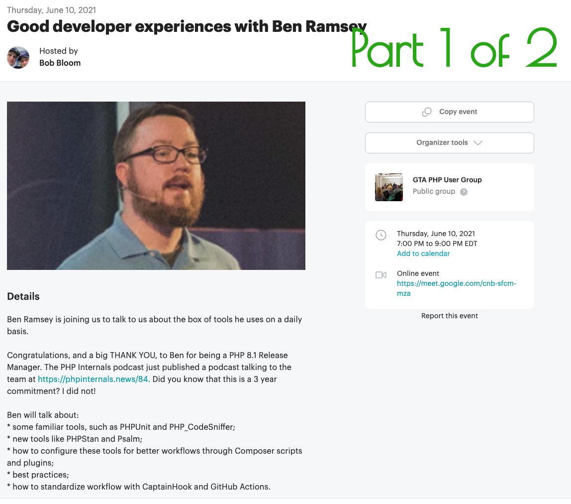 Ben Ramsey's Meet-up Presentation Is On Video