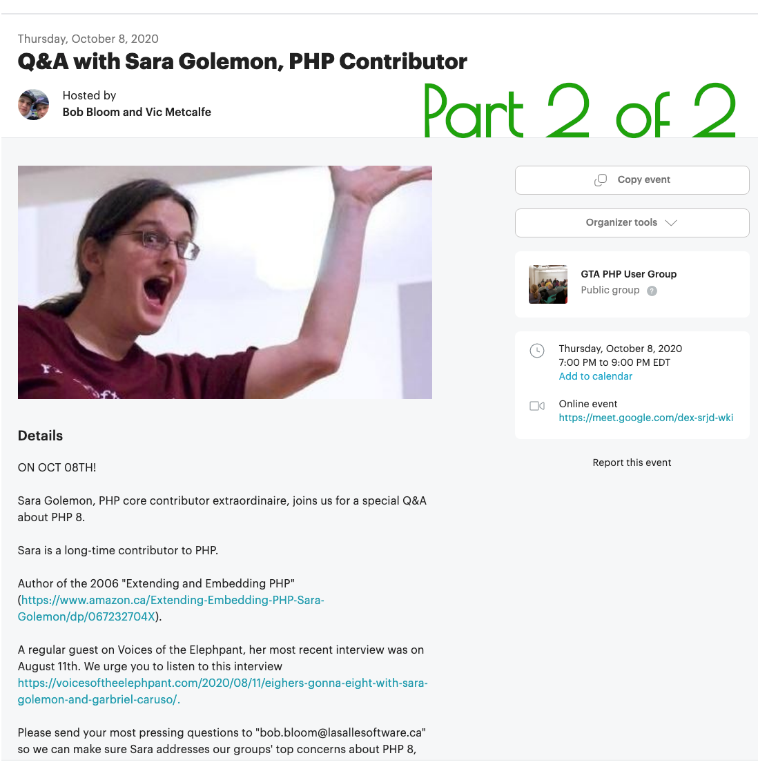 Q & A With Sara Golemon, PHP Contributor, Part 2 Of 2